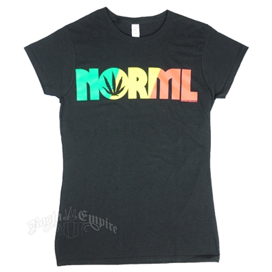 NORML Weed Leaf Black T-Shirt – Women's