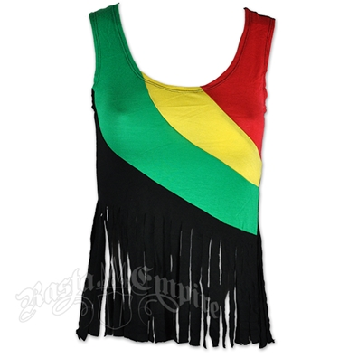 Rasta and Reggae Fringe Tank Top – Women's
