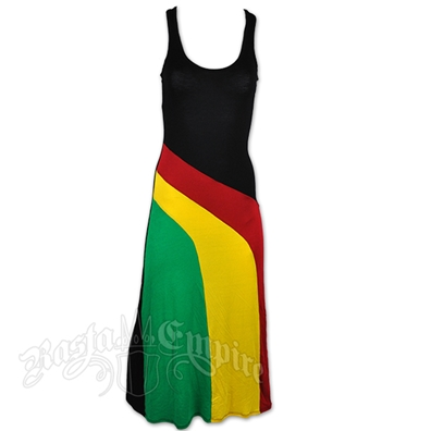 Rasta and Reggae Razor Back Tank Top Maxi Dress