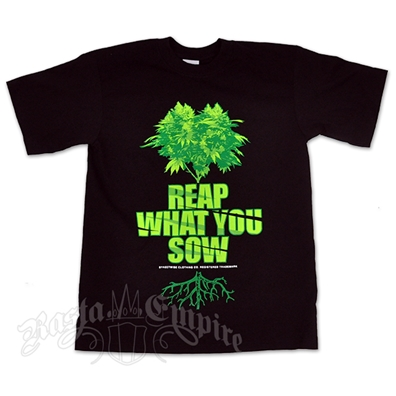Marijuana Reap What You Sow Black T-Shirt - Men's