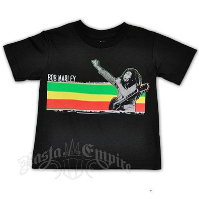 Bob Marley Stripe Black T-Shirt - Toddler's