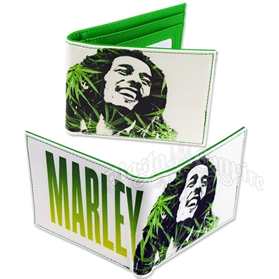 Bob Marley Leaves Bifold Wallet