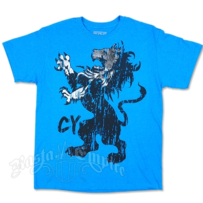 Cooyah Gothic Lion Blue T-Shirt - Men's