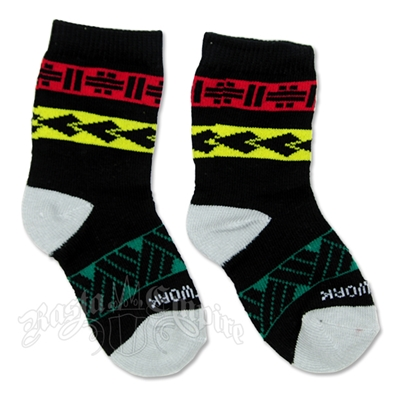 Rasta Tribal Infant Black Socks