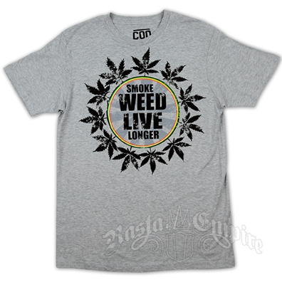 Cooyah Live Longer Heather Grey T-Shirt - Men's