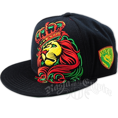 Rasta Lion and Crown Cap
