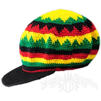 Rasta Crochet Applejack Hat