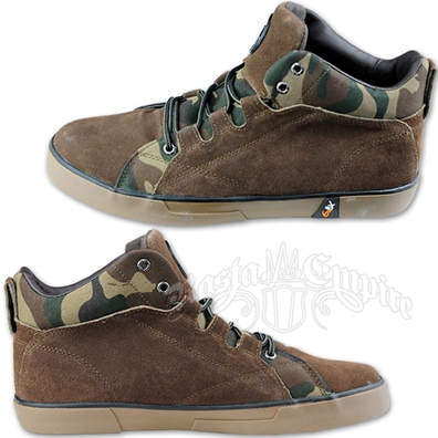Camo and Brown Suede Chukka Boot - Men's