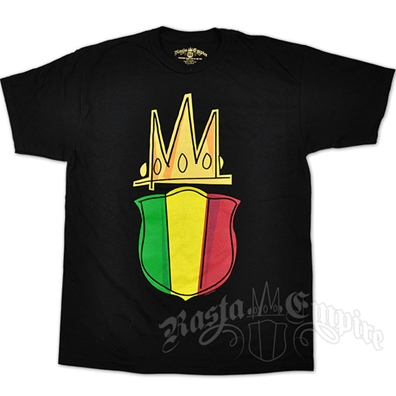RastaEmpire Sheild Logo Black T-Shirt - Men's