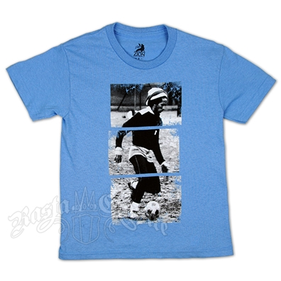 Bob Marley Soccer 77 Sky Blue T-Shirt - Youth's