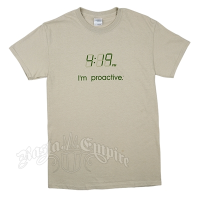 4:19 I'm Proactive Tan T-Shirt - Men's