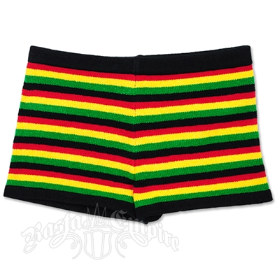 Rasta and Reggae Knitted Boy Shorts