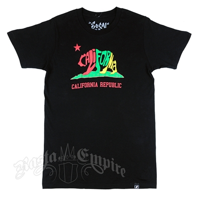 SoCal Rasta Cali Bear Black T-Shirt – Men's