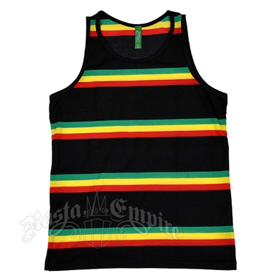 Rasta & Reggae Stripe Tank Top – Men's