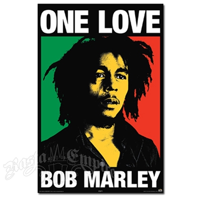 "Bob Marley One Love Fabric Poster 30"" x 40"""