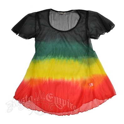 Rasta and Reggae Tie Dye Chiffon Top – Women's