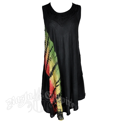 Rasta and Reggae Diagonal Tie Dye Dress – Women's