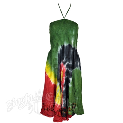 Rasta and Reggae Swirl Tie Dye Dress – Women's