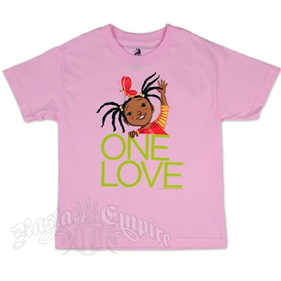 Bob Marley Butterfly Pink T-Shirt - Youth's