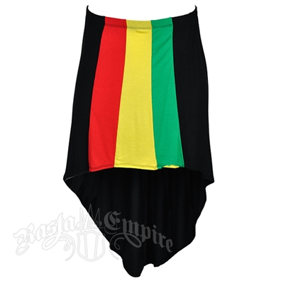 Rasta and Reggae High/Low Skirt
