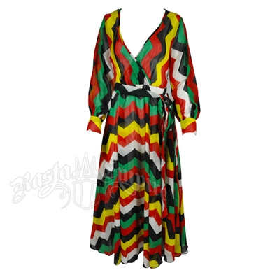 Rasta Maxi Georgette Dress