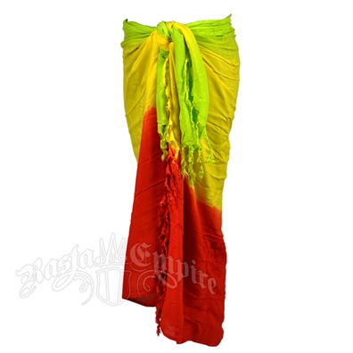 Rasta and Reggae Palm Tree Embroidery Sarong