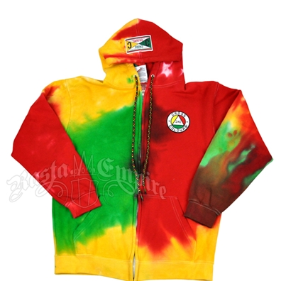 Cross Colours Tie-Dye Zip Hoodie - Men's
