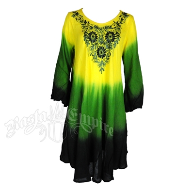 Jamaican Tie-Dye Tunic Dress