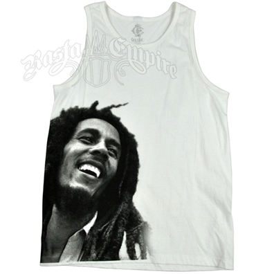 Bob Marley Contemporary Smile White Tank Top – Men's