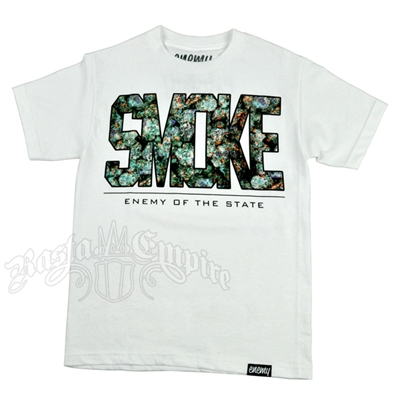 Smoke Buds White T-Shirt - Men's
