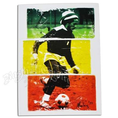Bob Marley Soccer 77 Tri-Color Sticker