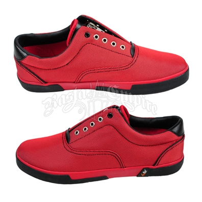 GBX Red and Black Zipper Sneakers – Men's