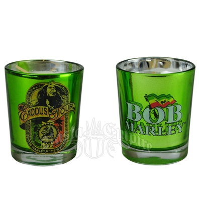 Bob Marley Exodus Tour Green Votive Candle