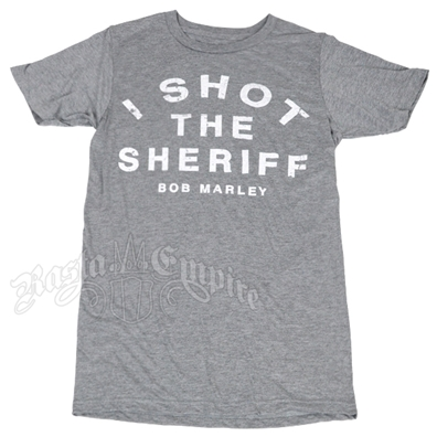 Bob Marley I Shot the Sheriff Grey T-Shirt - Men's