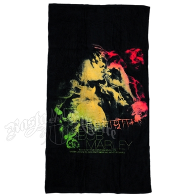 Bob Marley Rasta Smoke Beach Towel