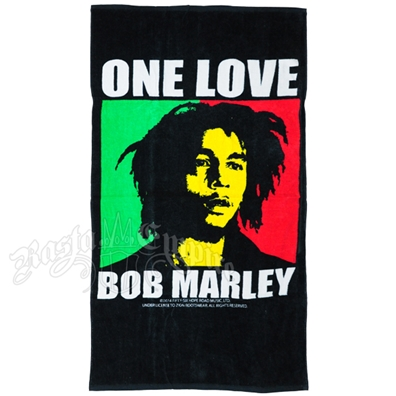 Bob Marley One Love Pop Art Beach Towel