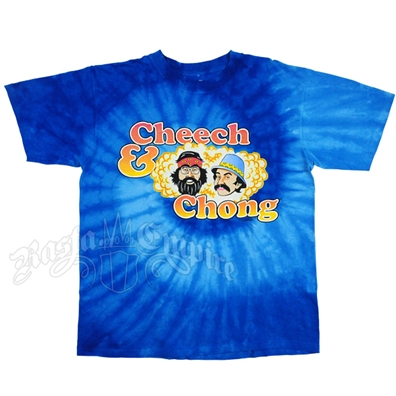Cheech and Chong Tie-Dyed Blue T-Shirt – Men's