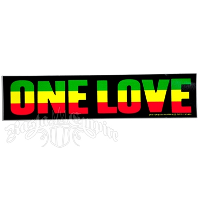 One Love Rasta Colors Sticker