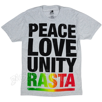 Peace, Love, and Unity White T-shirt - Men's