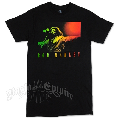 Bob Marley Arms Open Black T-Shirt - Men's