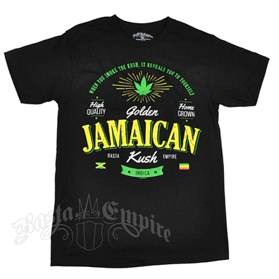 RastaEmpire Golden Jamaican Strain Black T-Shirt – Men's