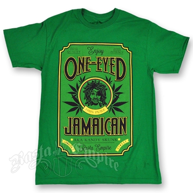 RastaEmpire One-Eyed Jamaican Strain Green T-Shirt – Men's