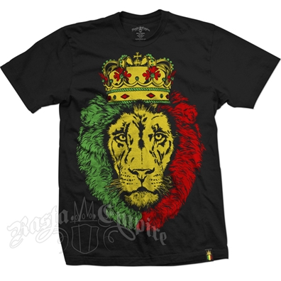 RastaEmpire Crowned Lion Black T-Shirt – Men's