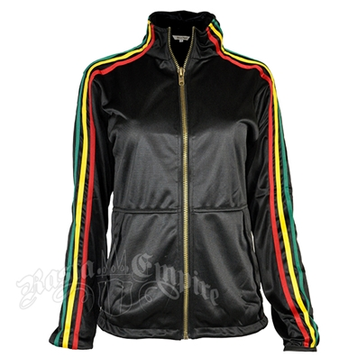 Rasta Stripe Black Track Jacket – Women's