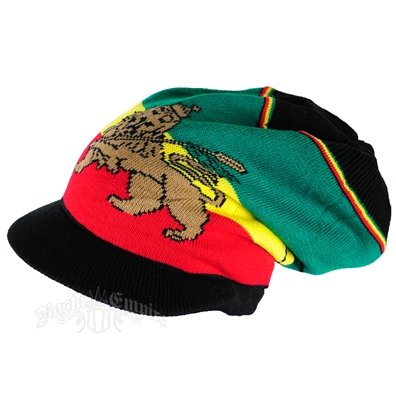 Rasta Lion of Judah Brim Cap