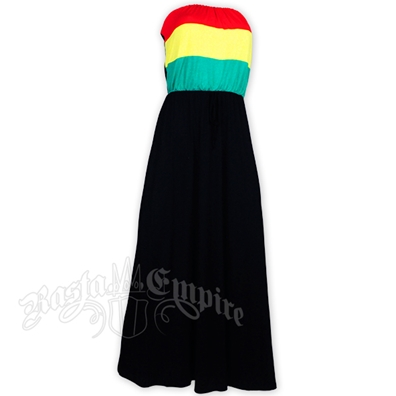 Rasta Tube Top Long Dress