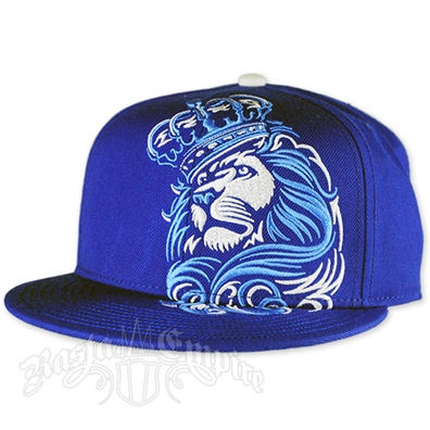 Lion and Crown Royal Blue Cap