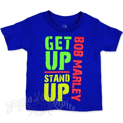 Bob Marley Get Up Stand Up Royal Blue T-Shirt - Toddler
