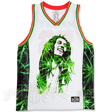 Bob Marley Leaves Basketball Jersey