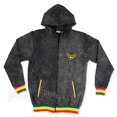 Rasta Star Of David Black Hoodie - Men's
